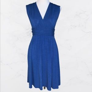 Plenty By Tracy Reese Space-dyed Blue Midi Dress